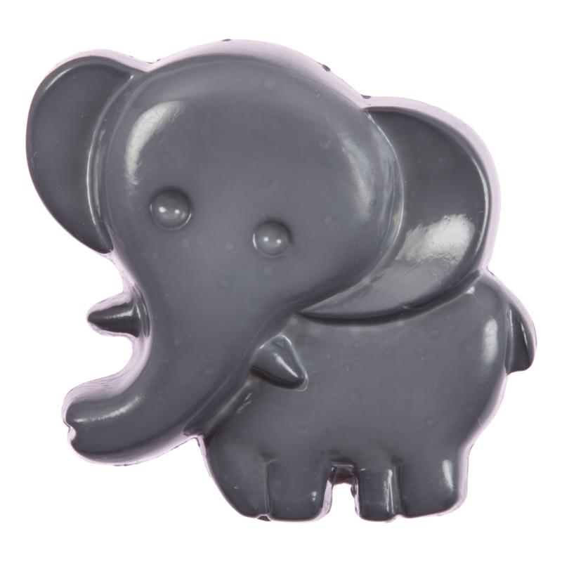 Kinderknopf - Elefant in Grau