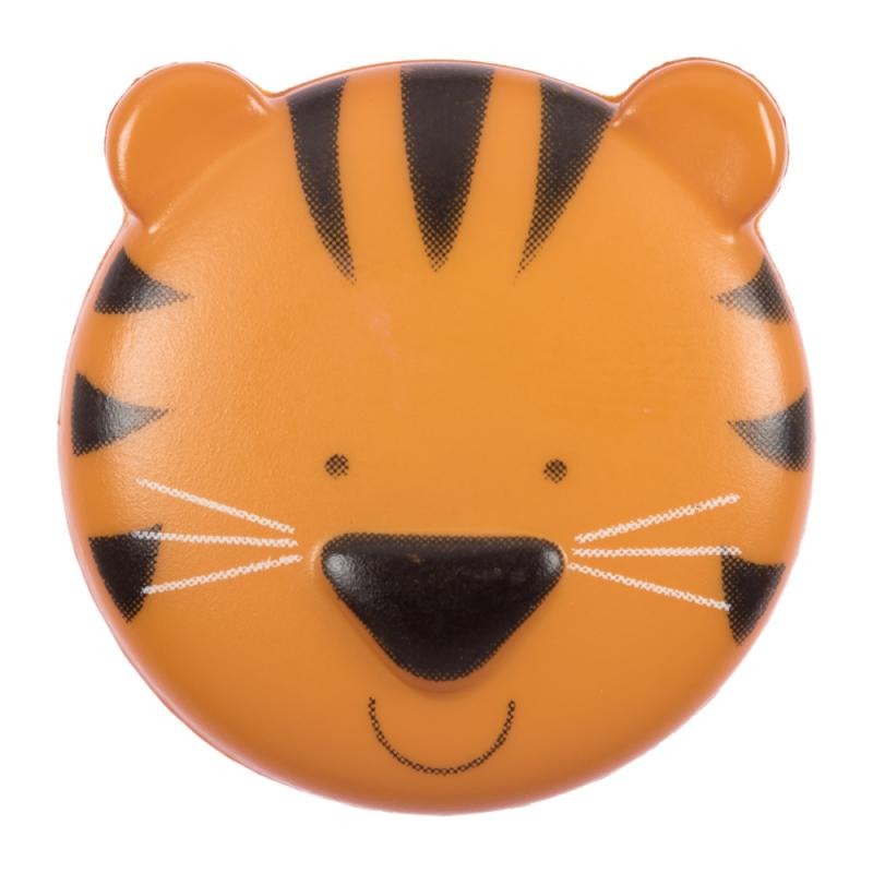 Kinderknopf - Schmusetiger in Orange