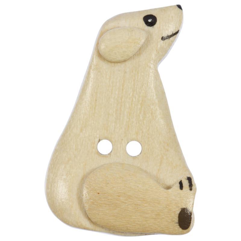 Stunning Kinderknopf Kleiner Eisbr Aus Echtem Holz In Beige With Kleiner  Holz