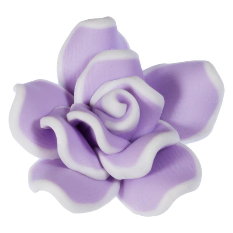 zierknopf blumenbl te in lila mit wei em rand. Black Bedroom Furniture Sets. Home Design Ideas