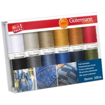 Gütermann Nähgarn-Set Denim (12 x 100m) erweiterte...