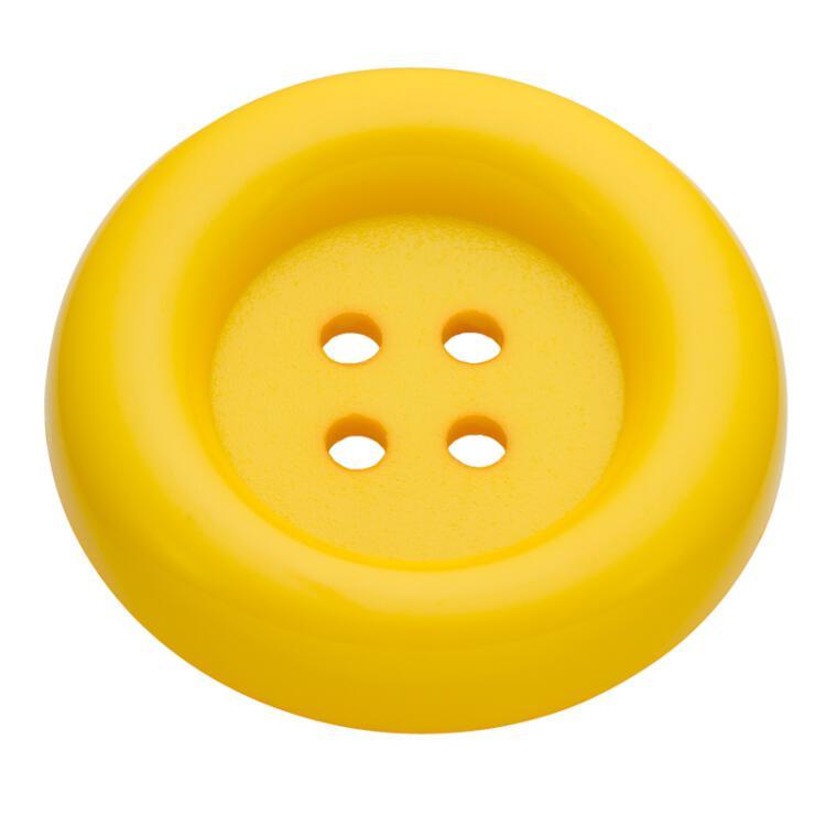 karnevalsknopf aus kunststoff in gelb. Black Bedroom Furniture Sets. Home Design Ideas