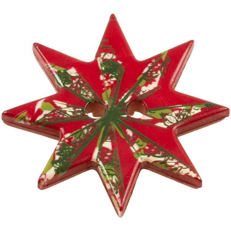 weihnachtsknopf roter weihnachtsstern. Black Bedroom Furniture Sets. Home Design Ideas
