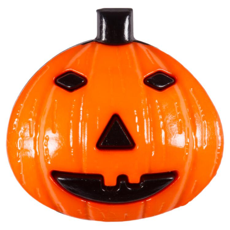 Kinderknopf Halloween Kurbis Orange