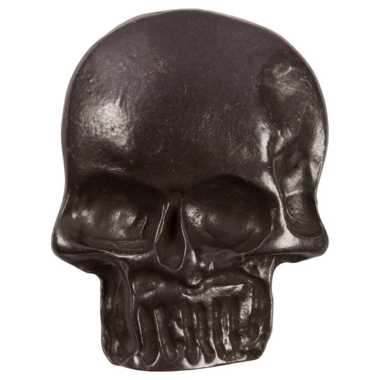 Totenkopf Knopf Skull Aus Metall In Schädelform Schwarz