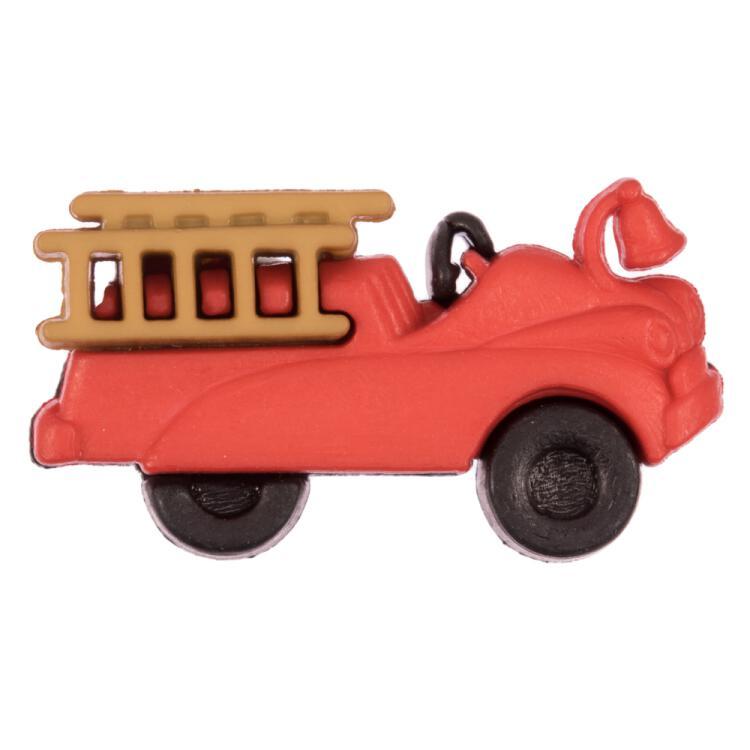 Kinderknopf Feuerwehrauto In Rot