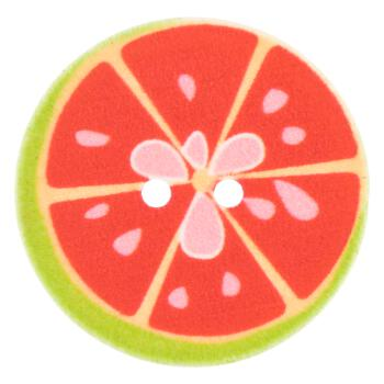 Kinderknopf - Grapefruit in Rot