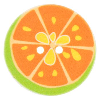 Kinderknopf - Grapefruit in Orange