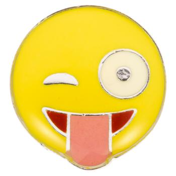 Smiley-Knopf (Emoji/Emoticon) - Gesicht mit...